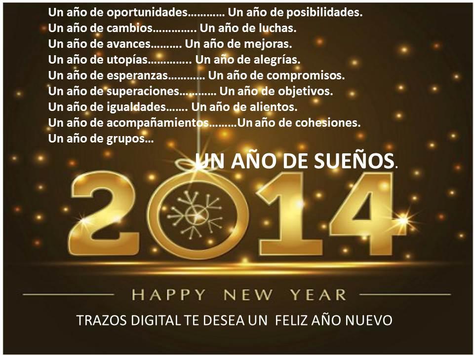 Feliz a o nuevo nuestros mejores deseos para el 2014 - Felicitaciones para ano nuevo ...