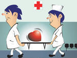 two-nursing-assistants-carrying-a-heart-symbol-in-a-stretcher_8732302