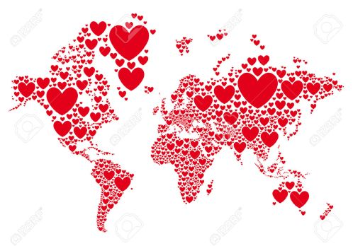 36598262-Amor-mapa-del-mundo-con-corazones-rojos-vector-de-fondo-Foto-de-archivo