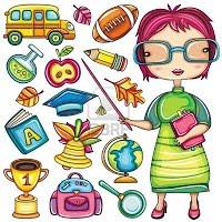 10919621-escuela-y-maestro-de-dibujos-animados-lindo-doodle-iconos